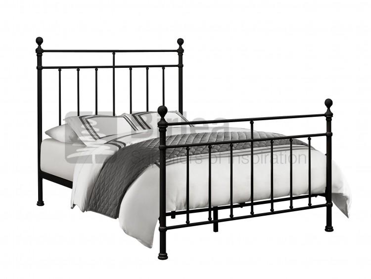 Birlea Atlas Bed Frame 4ft 6 Double Black Metal Bed Frame