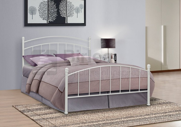 birlea eleanor 4ft small double white metal bed frame by. Black Bedroom Furniture Sets. Home Design Ideas