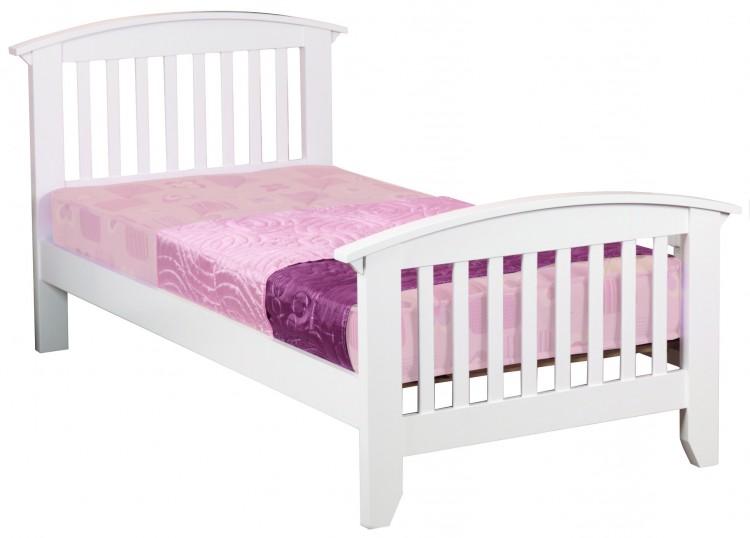 Sweet dreams kipling ruby white 3ft 90cm single wooden bed for Kids white bed frame