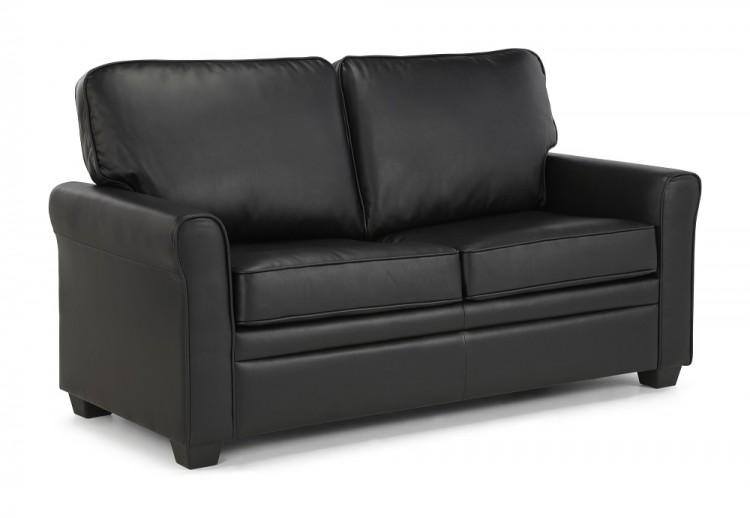 Home Bedroom Furniture Sofa Beds Serene Naples Black Faux Leather