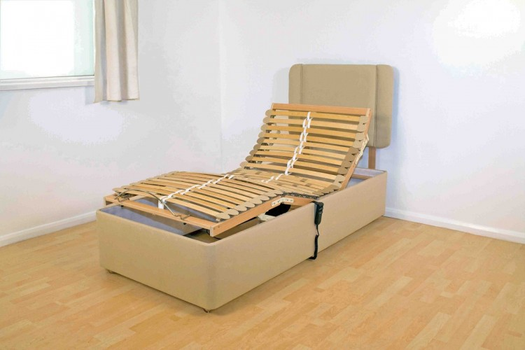 Adjustable electric single beds : Furmanac mibed doris ft single electric adjustable bed by
