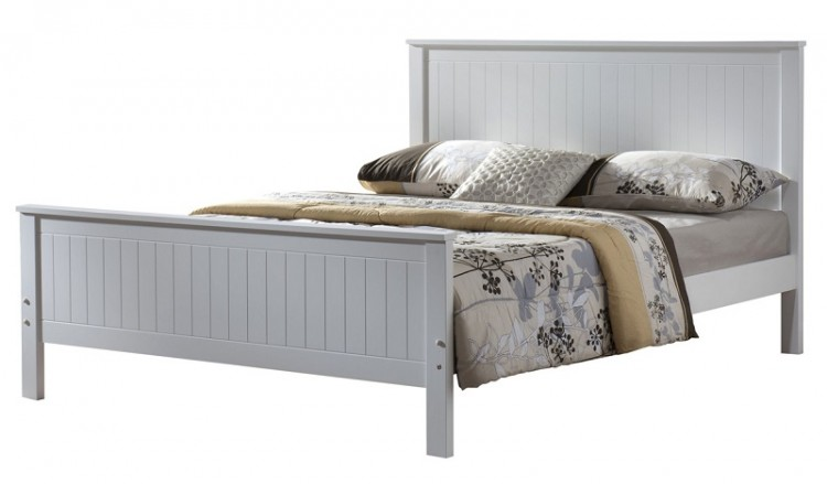 Exceptional Grey Wooden Double Bed Part - 14: Joseph Larissa 4ft6 Double White Wooden Bed Frame Joseph ...