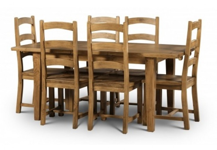 Serene And Practical 40 Asian Style Dining Rooms: Julian Bowen Mayflower Extending Dining Table With 6