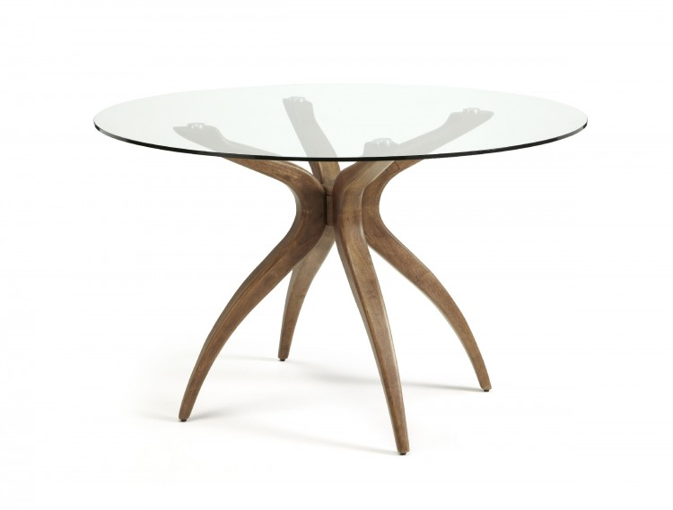 Serene Islington Glass And Walnut Round Dining Table by  : 9921 serene islington glass and walnut round dining table from www.bedsinleek.co.uk size 750 x 569 jpeg 30kB