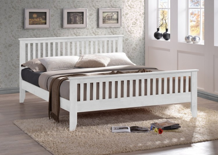 time living turin 3ft single white wooden bed frame - White Wood Bed Frame