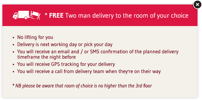 Free Two-man delivery